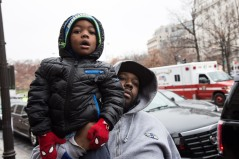 A young father wanted his boy to see Marion Barry one final time.