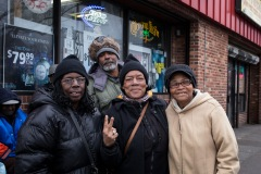The entire group was eager to speak about Marion Barry .The woman in the middle was mute but half way through our conversation she turned towards her friend and pantomimed 'The mayor never comes around here' in very strong language.